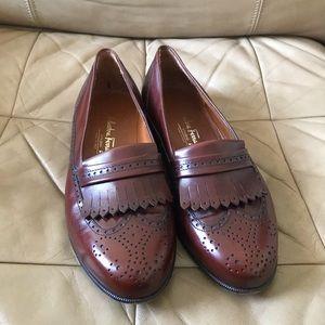 Salvatore Ferragamo Wingtip Dress Loafers